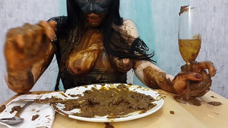 Anna Coprofield - Anna's Private Dinner Part 2 (Scat / Video) Scat Shop [FullHD 1080p]