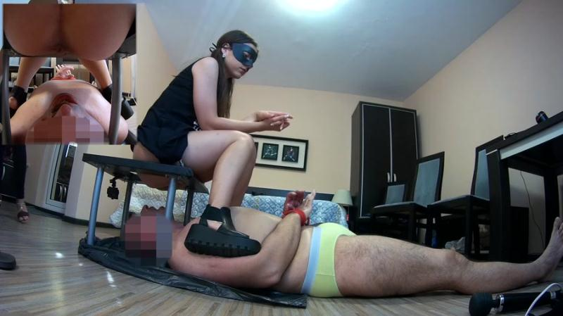 Mistress Anna Toilet - One Slave Swallow Two Shits (Shit / Poop) Scat Extreme [FullHD 1080p]