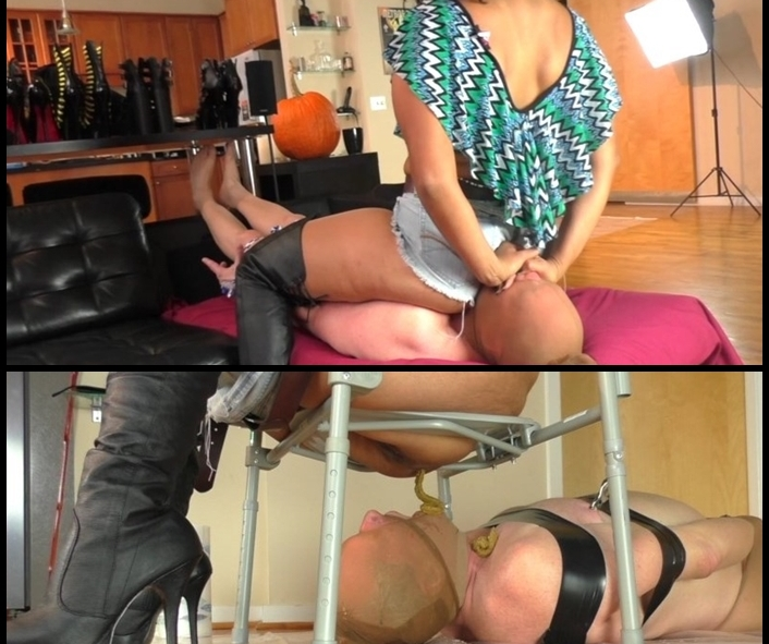 PrincessPuckie - Scat Queen Delilah Smothered & Wrapped up in Shit (Poopping, Shitting, Big pile, Scat)  [HQ 480p]