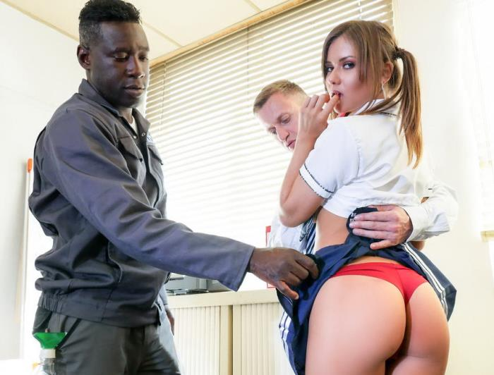PornDoePremium: French school girl Mina Sauvage ass fucked and DP'd in first interracial - Mina Sauvage [2017] (SD 480p)
