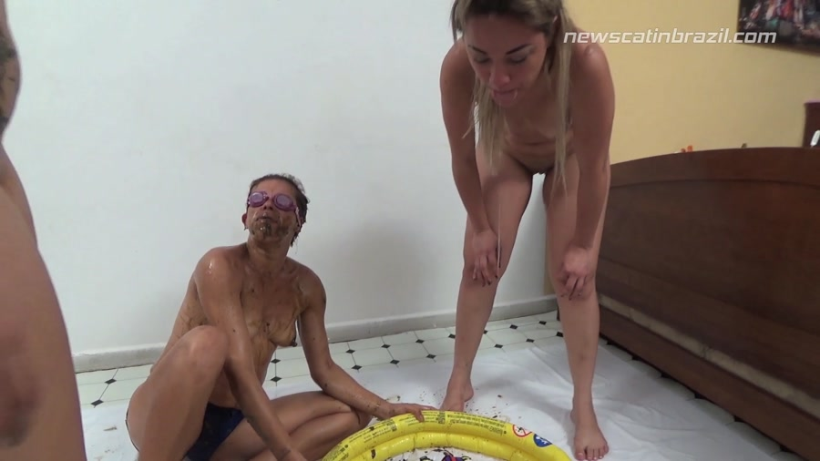 New Scat In Brazil - Cindy Blueberry, Diana, Marrie - A Pool of Shit [FullHD 1080p]