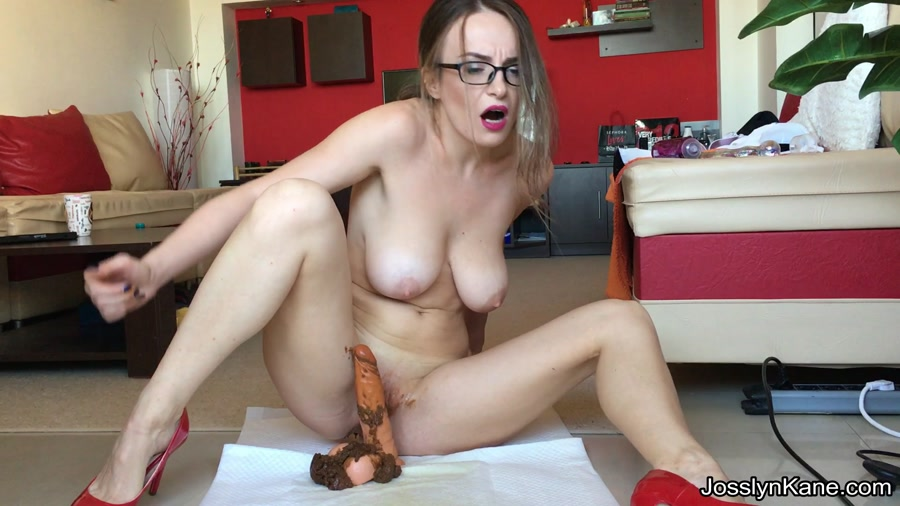 JosslynKane - Strip tease and pooping on your cock (Defecation / Solo) - Extreme Defecation [FullHD 1080p]