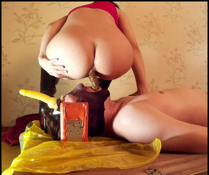 Princess Mia - Decided To Play With Her Toilet Again (Femdom Scat, Shitting) - Shit Smeared [FullHD 1080p]