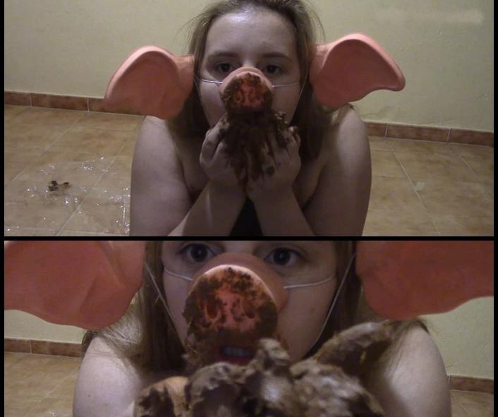 PrincessPuckie - Slut piggy Lick Delicious in a Suit (Shitting, Big pile, Scat)  [FullHD 1080p]