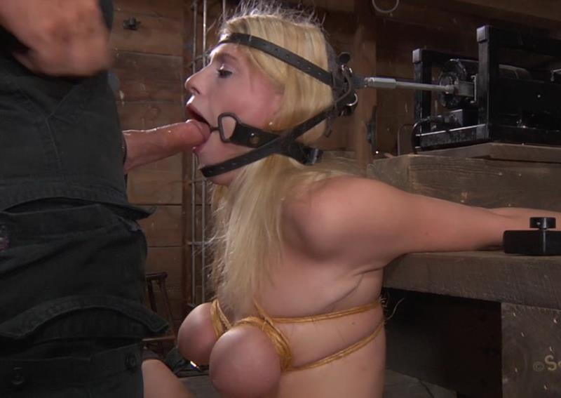 Allie James, Matt Williams - Locked into a automatic blow job machine, with huge ring gag! Brutal deep throating! (SexuallyBroken) HD 720p