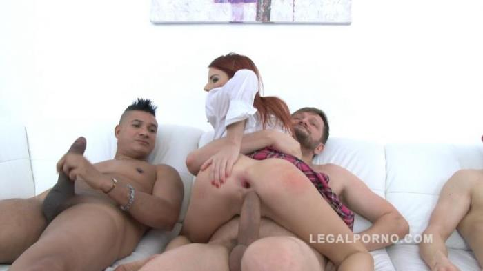 Susana Melo - Redhead slut Susana Melo fucked by 3 guys (2017 / LegalPorno)  [HD / 720p/ 1.63 Gb]
