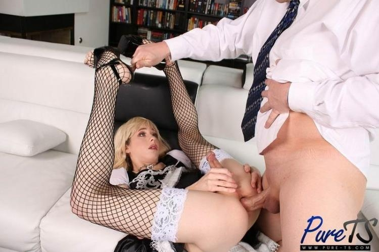 Pure-TS.com - Lily Demure - Lily Demure - Obedient TS Maid Does What She Is Told [HD / 2017]
