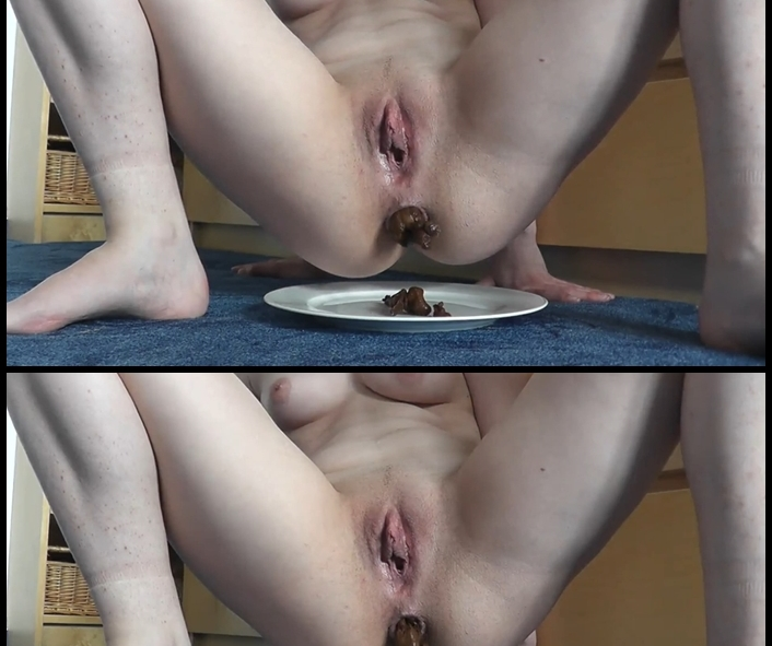 Silvia - Made on the plate (Big Pile, Dirty, Scat)  [FullHD 1080p]