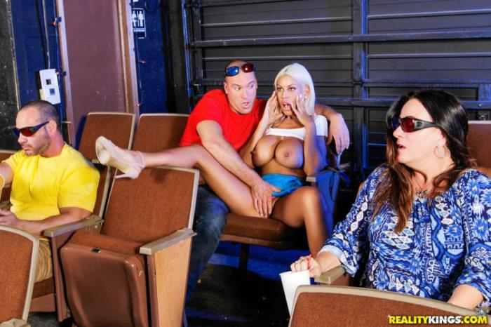 SneakySex / RealityKings: Bridgette B - Sneaky At The Movies  [SD 432p] (241.78 Mb)