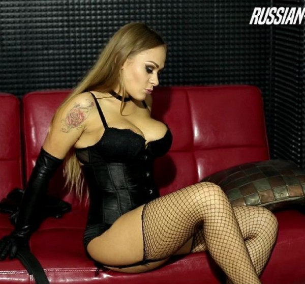 Mistress Gianna ~  Beautiful Mistress Gianna - Training her foot slave  ~ Russian-Mistress ~   FullHD 1080p