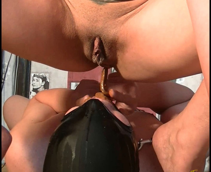 AutumnYoung - BDSM AND TOILET SLAVERY IN A MOVIE (Scatting Domination, Big pile, New scat) [FullHD 1080p] [