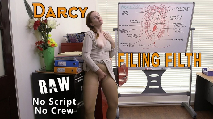 Darcy - Filing Filth RAW (Solo) - GirlsOutWest   [FullHD 1080p]