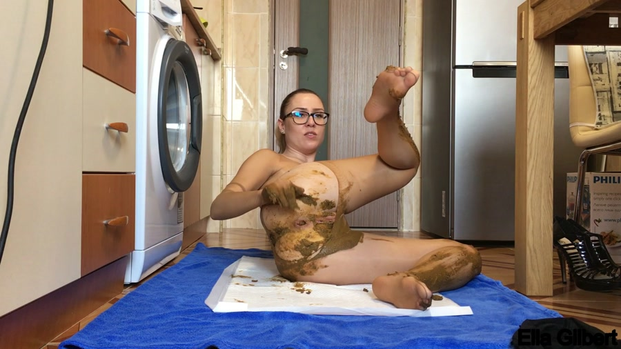 Extreme Defecation: EllaGilbert - Nylon Touch [FullHD 1080p] Poop Videos / Jean Pooping