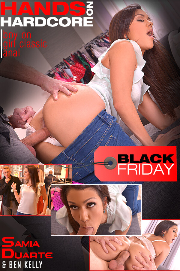 HandsOnHardcore / DDFNetwork: Samia Duarte - Blow Out Deal - Salesgirl Gets Her Ass And Pussy Stuffed In Store  [SD 360p] (217.37 Mb)