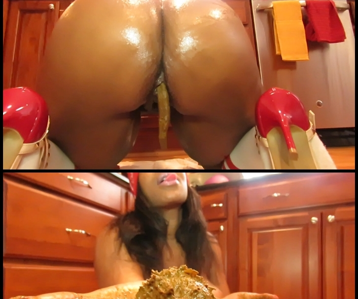 CandieCane - Playing with food scat pt 1 (Big pile, New scat, Solo Scat)  [FullHD 1080p]