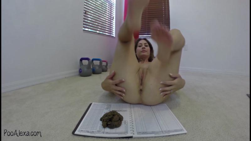 Alexa (Jessica Valentino) - Exercising and Shitting (Scat / USA) PooAlexa [FullHD 1080p]