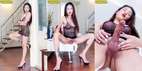 ladyboy-ladyboy: Alice - Very Horny Alice Toys And Cums (FullHD/1080p/962 MB) 01.11.2017