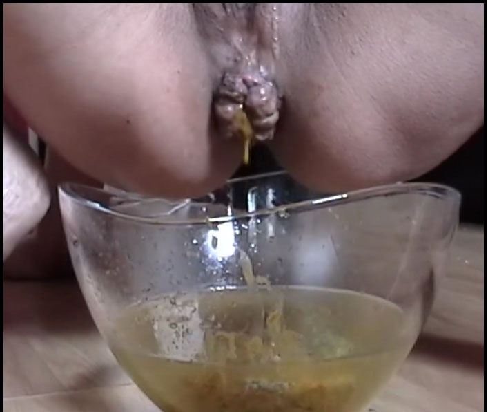 Anita - Humiliating Her Slave And Bowl Shitting (Toilet Slavery, Piss Smothered) - Femdom Scat [FullHD 1080p]