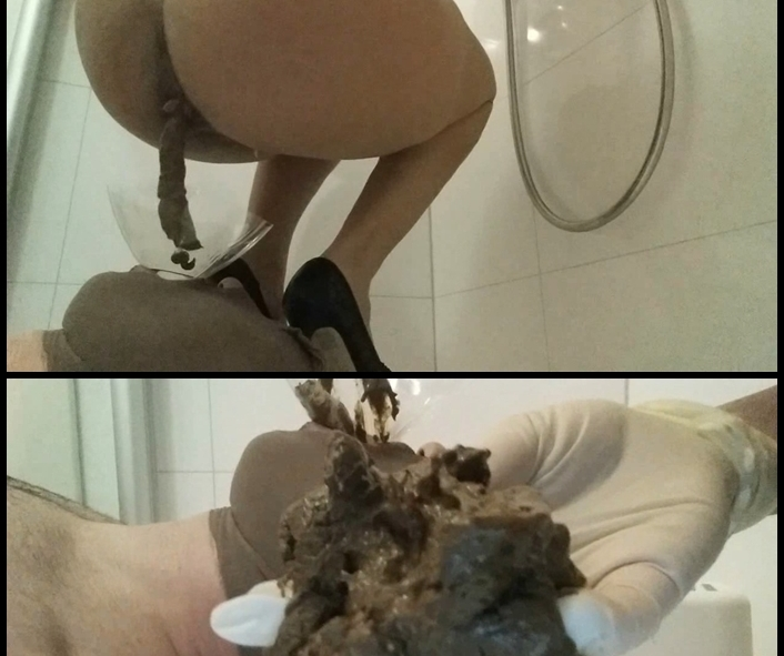 CandieCane - New Scat Humiliation Session Toilet (Scatting Domination, Big pile, New scat)  [FullHD 1080p]