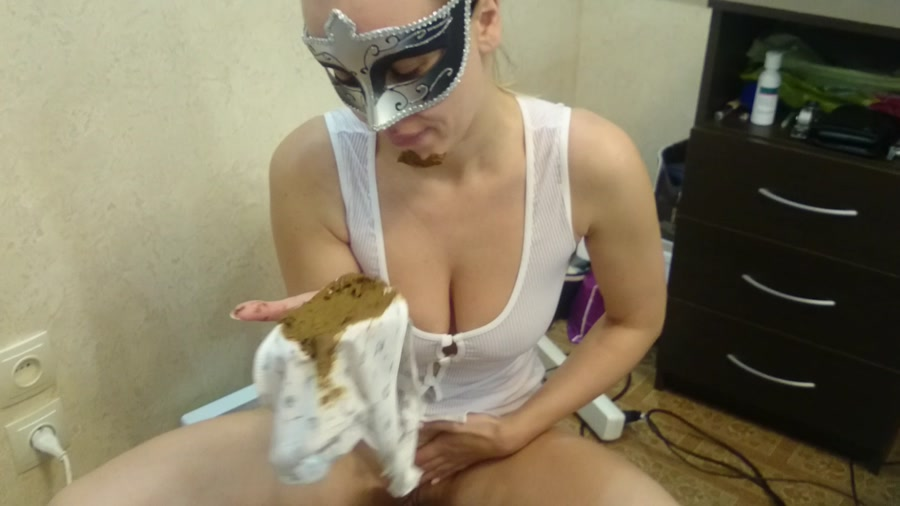 Brown wife - Dirty panties in my mouth (Panty Scat, Solo) - Scatting [FullHD 1080p]