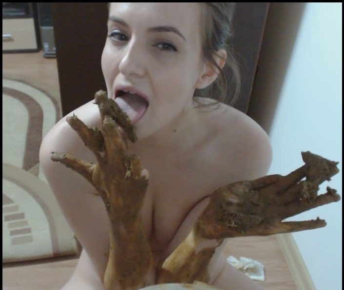 DianaSpark - Shit in a Plastic Box and Good Cream for Hands (Shit / Fetish) [FullHD 1080p] [Scat Extreme]