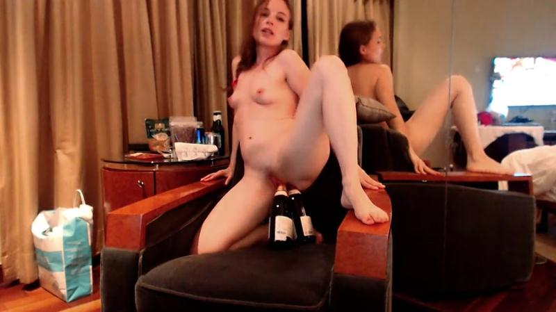 LittleMissKinky - Double Bottle Fuck (Solo, Scat) Extreme Defecation [FullHD 1080p]