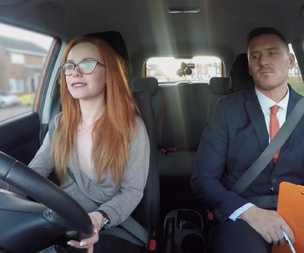 FakeDrivingSchool: Ella Hughes - Cheeky redhead fails on purpose [FullHD 1080p] (1.79 Gb)