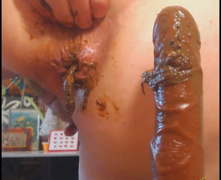 Tima - Black dick in my ass (Poopping, Shitting, Big pile, Scat)  [FullHD 1080p]