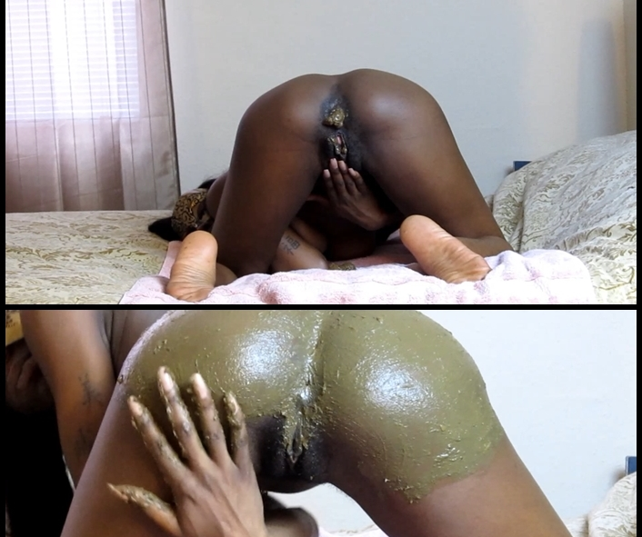 Silvia - Smearing Shit on my Butt (Femdom Scat, Domination Scat)  [FullHD 1080p]