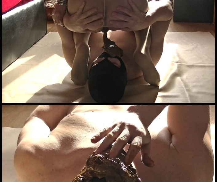 Silvia - BIG HARD SCAT INTO FACE AND MOUTH (Scatting Domination, Big pile, New scat)  [FullHD 1080p]