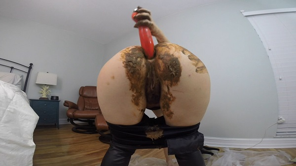 HotScatWife - Leather PANTS POOP PLAY DAY (Scat / Jean Pooping) Scatshop [FullHD 1080p]