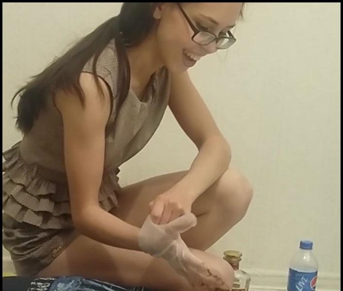PooAlina - Toilet Slave Eats Alina Shit (Scat Humiliation, Scat Porn) Femdom Scat [HD 720p]