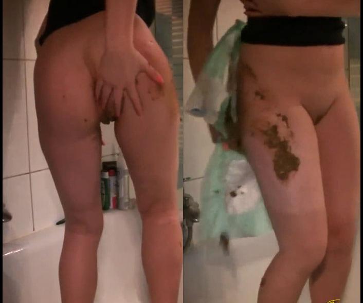 ScatGiorgia - Shitting in the diaper (Dirty, Drink Urine, Scat)  [FullHD 1080p]