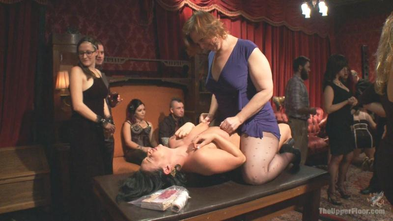 Aiden Starr, Penny Pax, Laela Pryce - Come Shot Orgy on the Upper Floor (TheUpperFloor.com / Kink.com) HD 2015