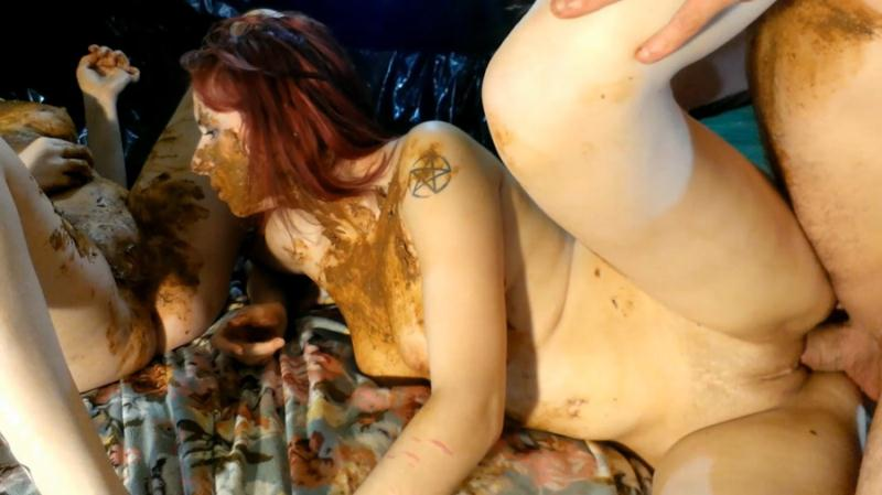 AstraCelestial, Aria, Lilith, Christine - Part 1 – Female scat, lots of piss and anal 3 (Scat / Scat Orgy) ScatShop [FullHD 1080p]