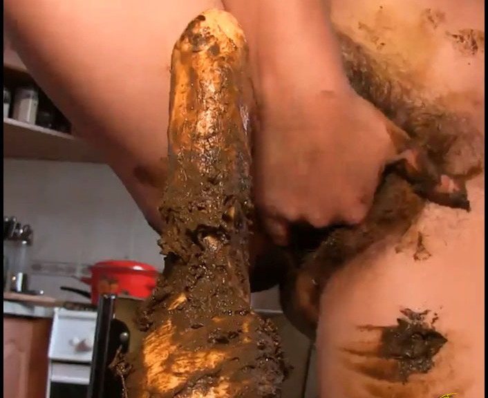 CandieCane - Girl Raped Her Vibrator Ass , Shit On Him And Lick Your Shit - FullHD 1080p