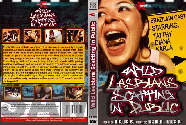 Diana, Karla, Tatthy - [MFX-1181] Wild Lesbians Scatting in Public (Dirty Anal, Scat Lesbian) Mfx-media [DVDRip]