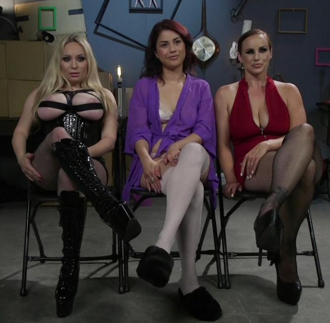 Aiden Starr, Bella Rossi, Penelope Reed ~ Dominating Dreams: First Time Kink Model is Tag-Teamed by Horny Lesbos ~ Kink/WhippedAss ~ HD 720p