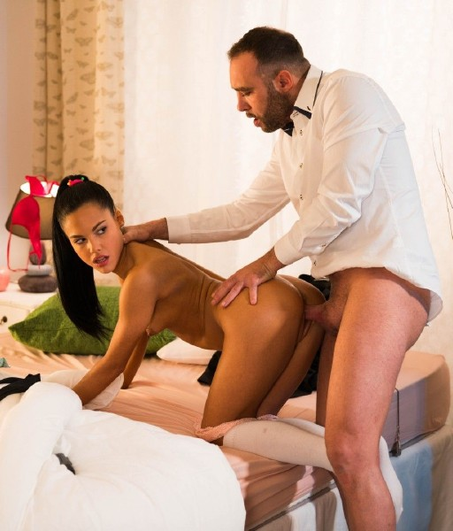 XXXShades/PornDoePremium - - Apolonia Lapiedra - Spanish hottie gets cum on ass in steamy fantasy fuck [HD 720p]