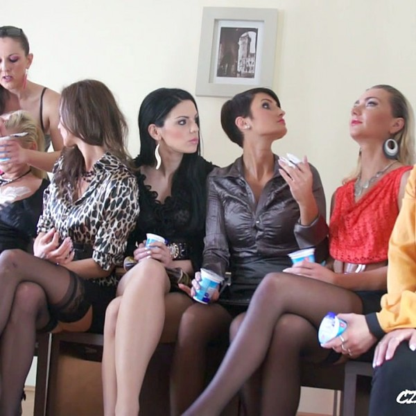 CzechSexParty.com/PornCZ.com - - Amateurs - Lesbian yoghurt party 1 [HD 720p]