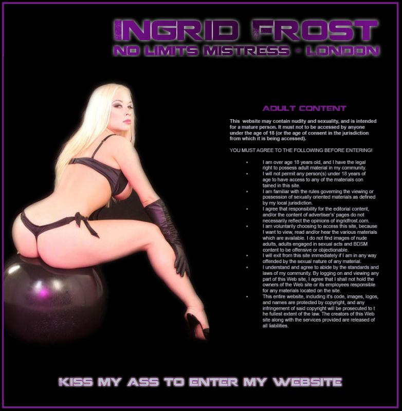 Ingrid Frost - No Limits Mistress (United Kingdom, Femdom Scat) Ingridfrost [SD]