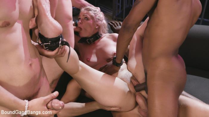 BoundGangBangs.com / Kink.com - Lisey Sweet - Caged Gangbang Slut: Submissive Lisey Sweet Gets Holes Cracked Open [SD, 360p]