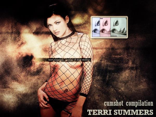 Terri Summers - Cumshot compilation (2017/SD)