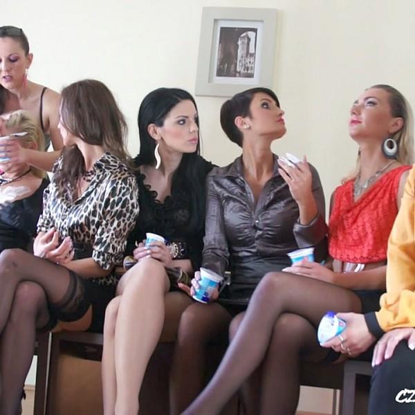 Amateurs - Lesbian yoghurt party 1 (CzechSexParty.com/PornCZ.com) - [HD 720p]