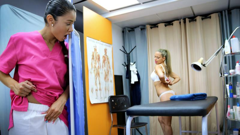 TheFuckingClinic.com / CumLouder.com: Helena Kramer & Jade - A very physical therapist [SD] (408 MB)