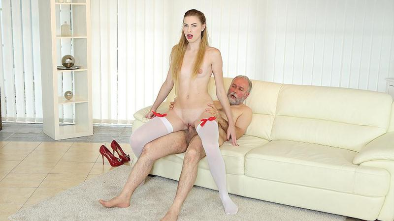 Milena Devi - Cutie joins an old man for an anal fuck (OldGoesYoung.com) SD 2017