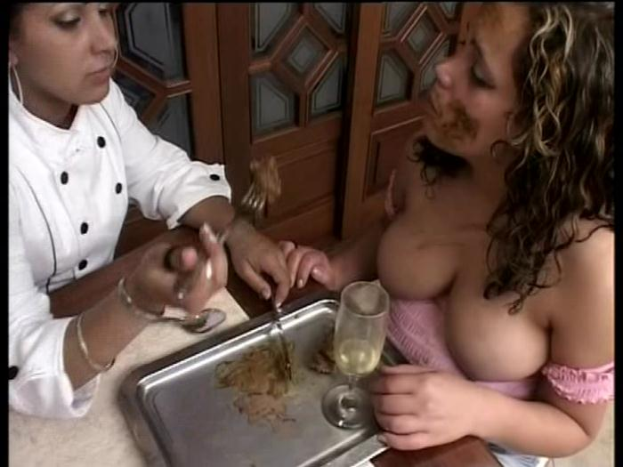 ShitGirls - Forced To Swallow Scat 1 - (2000 / SG Video) [DVDRip / 1.35 GB]