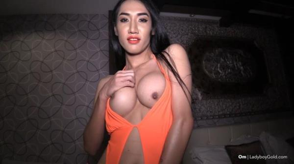 OM - Om Orange Bikini Bareback Handjob (LadyBoyGold.com) - [HD 720p]