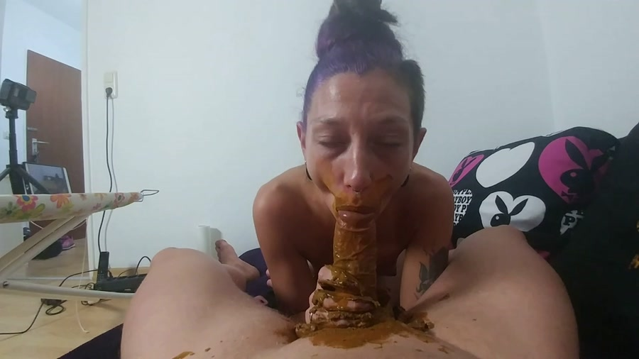 KV-GIRL - Mouth full of shit and cock blown [Germany Scat] FullHD 1080p