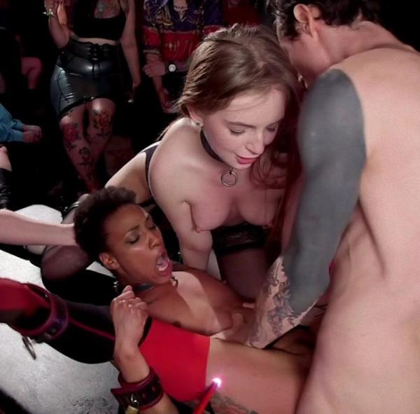 Kink/TheupperFloor: - Aiden Starr, Owen Gray, Maya Kendrick, Nikki Darling - - Masochistic Anal Sluts Love It All at the BDSM Ball (2018) HD - 720p